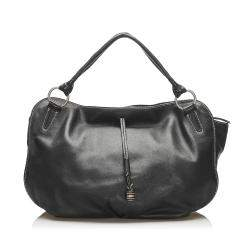 Celine Black Leather Bittersweet Hobo Bag