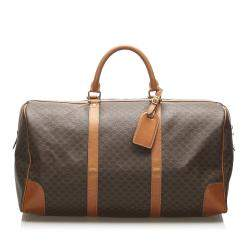 Celine Brown/Beige Macadam Canvas Duffel Bag