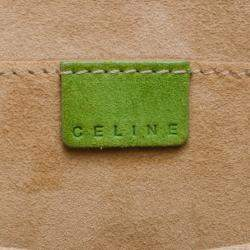 Celine Green Suede Studded Boogie Tote