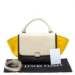 Celine Tricolor Leather Small Trapeze Bag