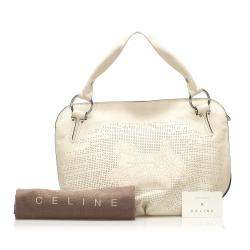 Celine White Leather Bittersweet Bag