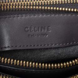 Celine Dark Grey Leather Trio Shoulder Bag