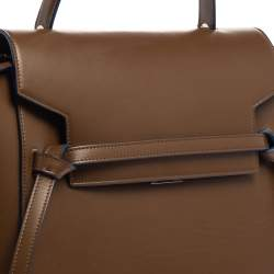 Celine Brown Leather Micro Belt Top Handle Bag