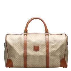 Celine Brown/Beige Macadam Canvas Travel Bag