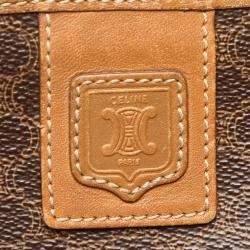 Celine Brown/Beige Macadam Canvas Clutch Bag