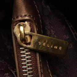 Celine Brown/Beige Suede Leather C Macadam Boogie Tote