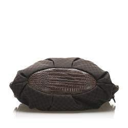 Celine Black Macadam Canvas Satchel Bag