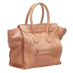 Celine Pink Luggage Leather Tote