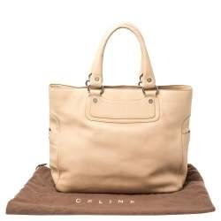 Celine Beige Leather Large Boogie Tote