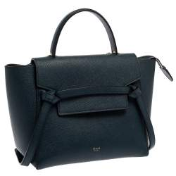 Celine Teal Blue Leather Micro Belt Bag