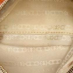 Celine Orange Canvas Leather Shoulder Bag