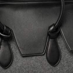 Celine Grey Felt and Leather Medium Tie Tote