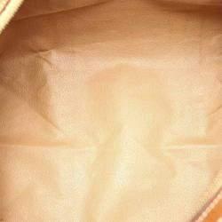 Celine Brown/Dark Brown Macadam Canvas Boston Bag