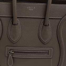 Celine Taupe Leather Micro Luggage Tote