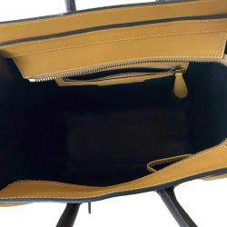 Celine Brown Leather Luggage Micro Tote