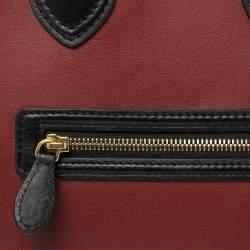 Celine Multicolor Leather and Suede Mini Luggage Tote