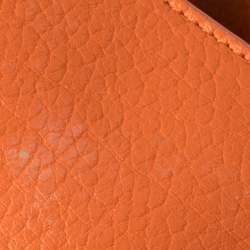 Celine Burnt Orange Leather Mini Tie Tote