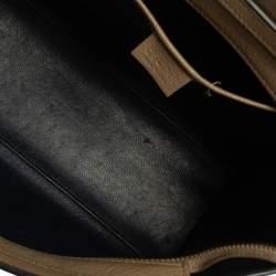 Celine Beige/Black Leather Nano Luggage Tote