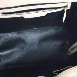 Celine Beige Leather Luggage Mini Tote Bag
