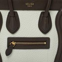 Celine Tri Color Leather and Nubuck Nano Luggage Tote