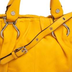Celine Mustard Leather Tote