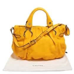 Celine Mustard Leather Tote