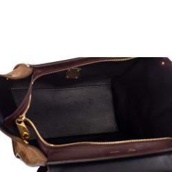 Celine Tricolor Leather & Suede Trapeze Medium Bag