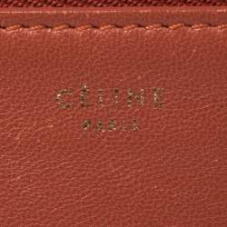 Céline Leather Two Tone Leather Clutch Pouch