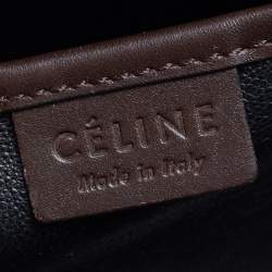 Céline Tri Color Leather Nano Luggage Tote