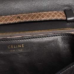 Celine Grey Python Medium Classic Box Shoulder Bag