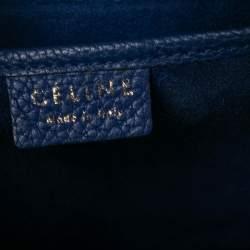 Céline Blue Leather Nano Luggage Tote