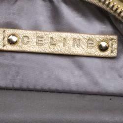 Celine Metallic Gold Leather Bittersweet Hobo