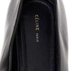 Celine Black Leather V-Neck Ballet Flats Size 40