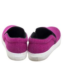 Celine Pink Wool Low Top Slip On Sneakers Size 39