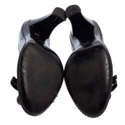 Celine Black Patent Leather Embellished Pumps Size 39