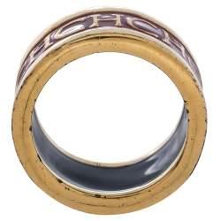 خاتم سي أتش كارولينا هيريرا لون ذهبي إيناميل شعار أحمر مقاس EU 56