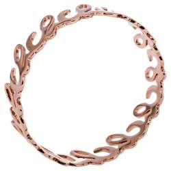 CH Carolina Herrera Rose Gold Tone Logo Bangle Bracelet