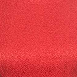 CH Carolina Herrera Red Embossed Jacquard Belted Sleeveless Dress XS