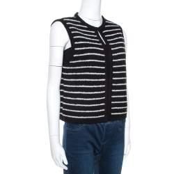 CH Carolina Herrera Monochrome Striped Knit Vest M