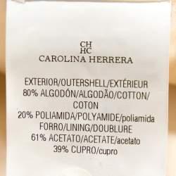 CH Carolina Herrera Off White Tweed Peplum Jacket S
