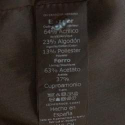 CH Carolina Herrera Black Lurex Cotton Blend Pencil Skirt L