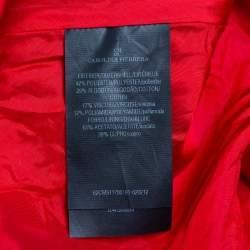 CH Carolina Herrera Red Lace & Mesh Paneled Sleeveless Mini Dress M