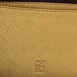 Carolina Herrera Red Monogram Leather American Flap Wallet