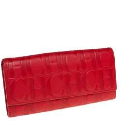 محفظة كونتينتال كارولينا هيريرا جلد مونوغرامية حمراء