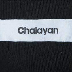 Chalayan Black Knit Noodle Strap Dress M