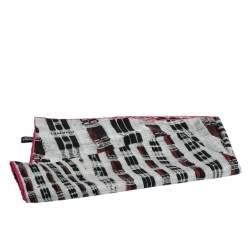 Chanel Black & Pink Tweed Print Silk Scarf