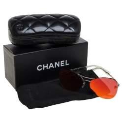 """نظارة شمسية """"4218 كروسهاتش"""" أفياتور عاكسة برتقالي و معدن فضي اللون"""