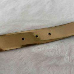 Chanel Metallic Gold Leather Belt 85