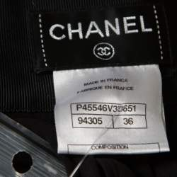 Chanel Black Floral Cotton Lace Silk Lined Layered Culottes S