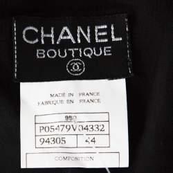 Chanel Black Wool Wrap Overlay Skirt L